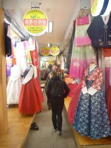 Hanbok aisle.