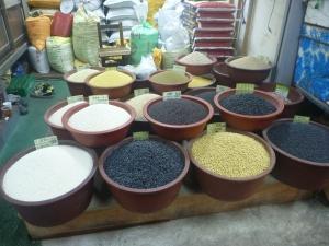 Dried grains etc. for sale.