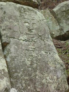 Carved Buddha.
