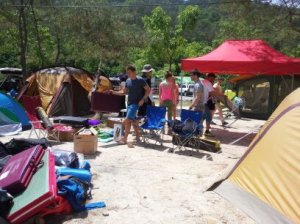 Korean campgrounds are very close-knit communal affairs.