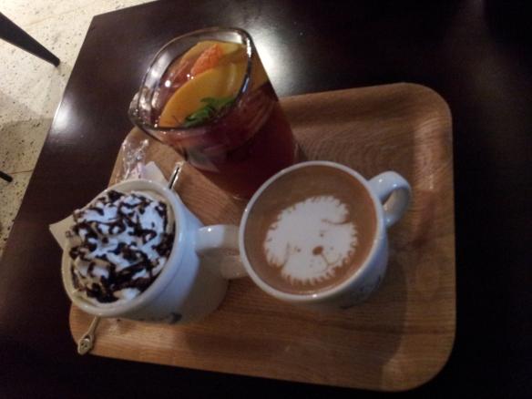 Presentation is usually pretty nice at a Korean cafè.