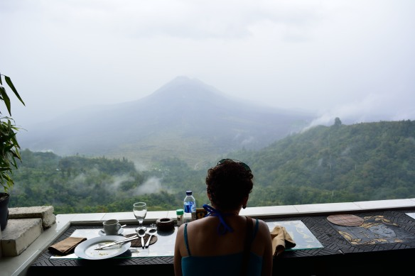 Lunch looking out over the volcano.