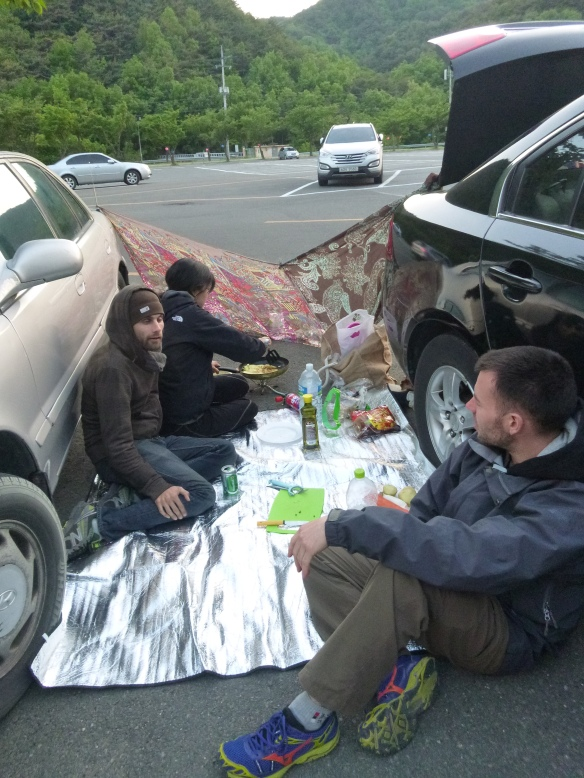 Parking lot picnic anyone?