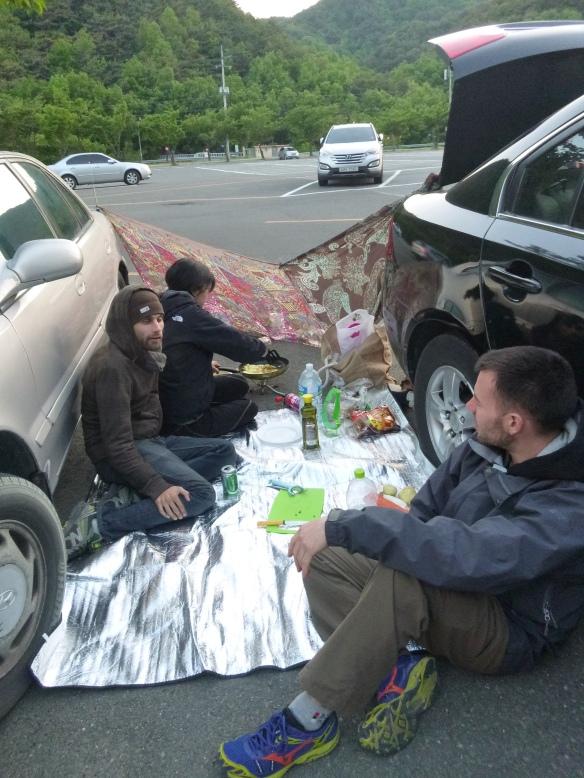 Parking lot picnic anyone?
