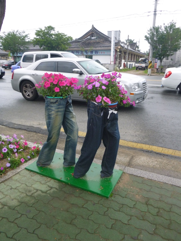 Just awesome flower pots in Gyeongju