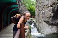 Tamara at Yongchu falls.