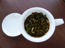 White dandelion tea.