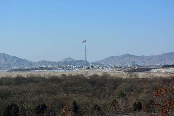 Looking out at propaganda village: Kijongdong