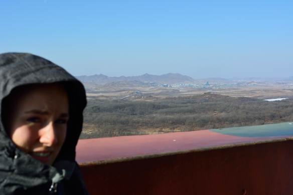 View from the Dora observatory into North Korea.