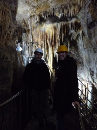Taking a break to admire one of the large caverns.