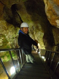 The final descent on the way out of the caves.