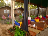 And when we finished we had these comfy beach-front lounge spots to have a drink and relax in.