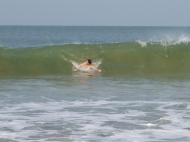 The waves were decent enough to have a good time trying to body surf.