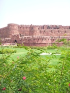 A look at the front of Agra Fort.