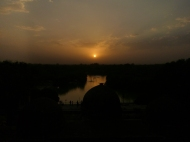 Our last sunset in India.