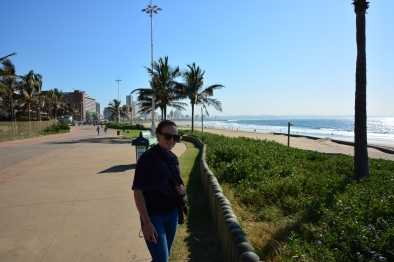 Looking along the Durban promenade.