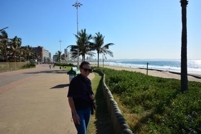 Looking along the Durban promenade.
