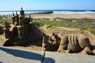 Sand sculptures on the Durban waterfront.