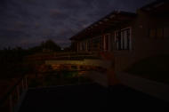 Cottage at sunrise.