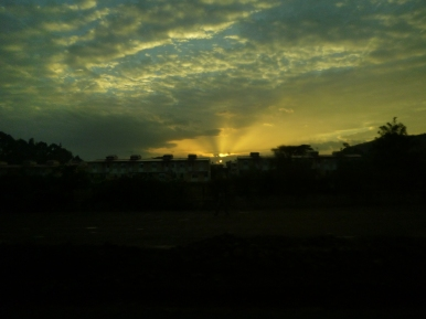 Sunrise as we left Addis.