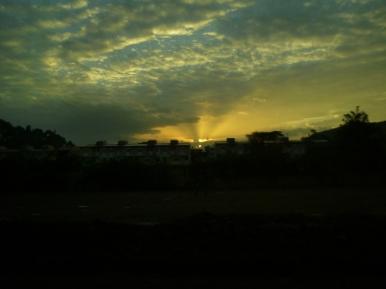 Sunrise as we left Addis.
