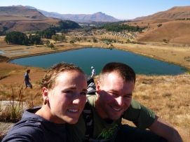 The end of the trek above the dam at Drakensberg Gardens.