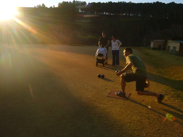 A little lawn bowling to start things off well.