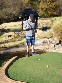 We were never that good at mini-golf.